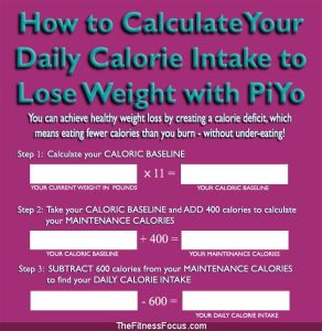 caloric baseline