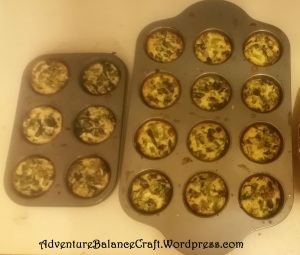 Fresh Baked Vegetable Egg Cups for Freezing