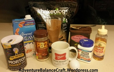 Peanut Butter Chocolate Shakeology Mug Cake Ingredients
