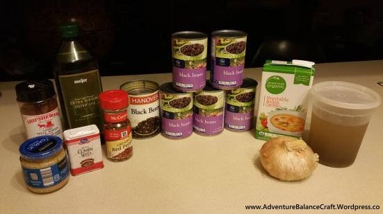 Vegan spicy low fat black bean soup recipe