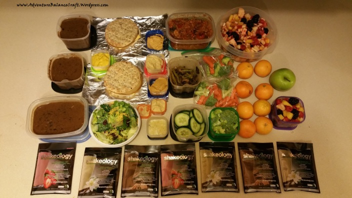 Week of prepped meals