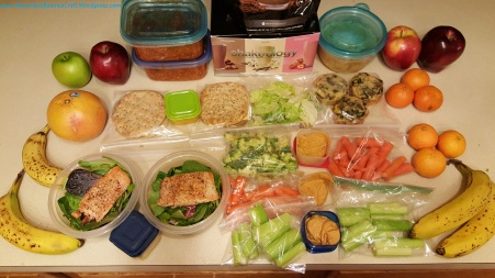 21 day fix style meal prep with salmon, tofurkey, spaghetti squash and more